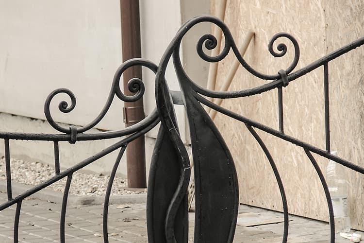 forged gate and fence - single-family house - Gdansk